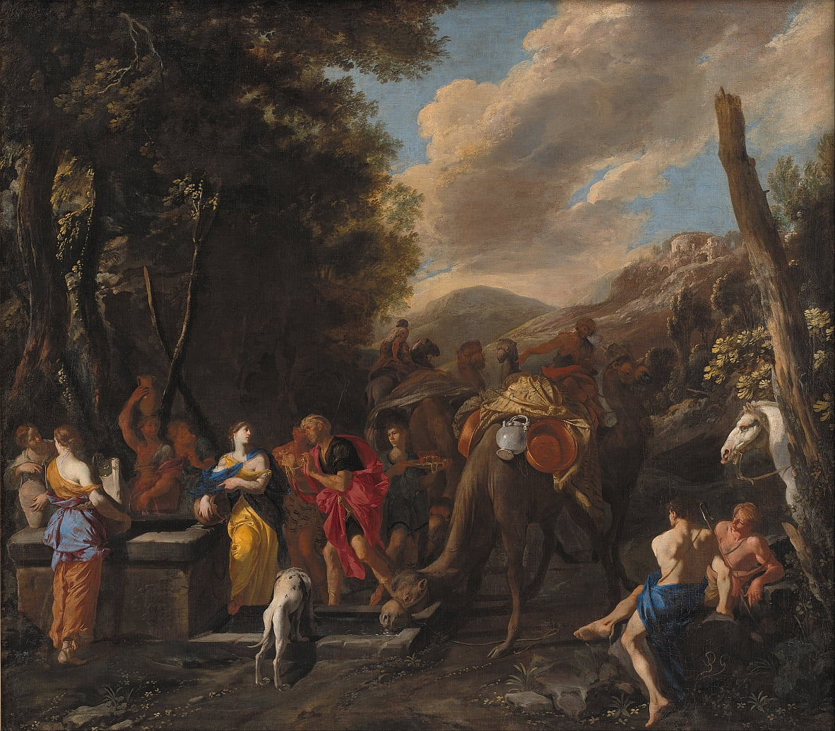 Rebecca and Eliezer at the Well by Domenico Gargiulo