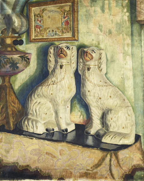 Staffordshire Dogs, c. 1928 by Dora Carrington