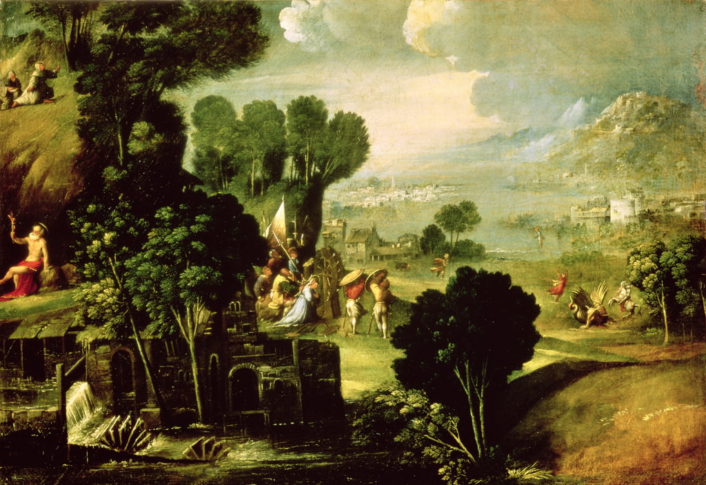 Landscape with Saints, 1520-30 by Dosso Dossi