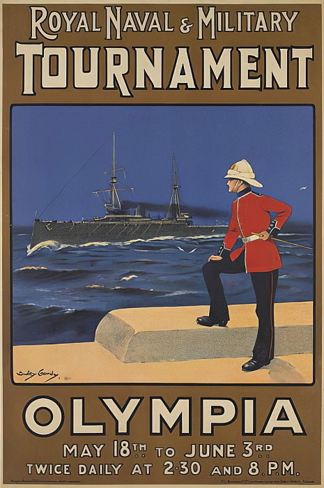 Poster for the Royal Naval and Military Tournament, 1910  by Dudley Hardy
