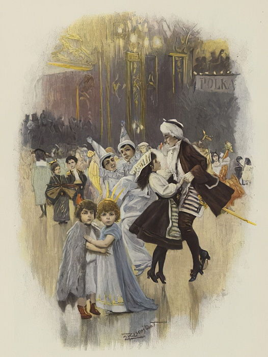 Childrens Ball at Carnival Time  by E. after Rosenstand
