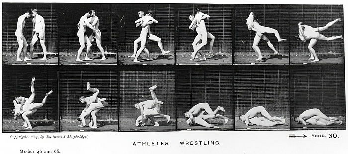 Two Men Wrestling, from