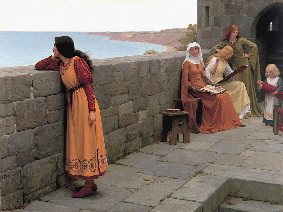 Faraway Thoughts (the Hostage) by Edmund Blair Leighton