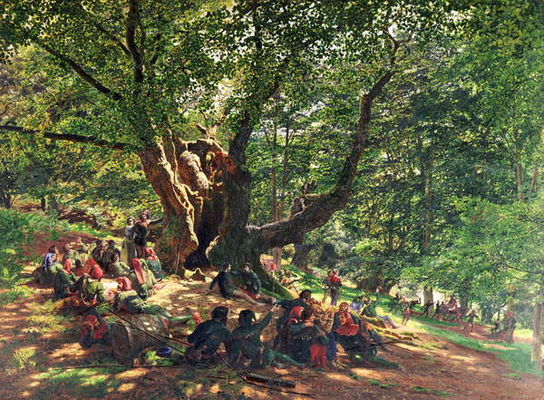 Robin Hood and his Merry Men, 1859 by Edmund George Warren