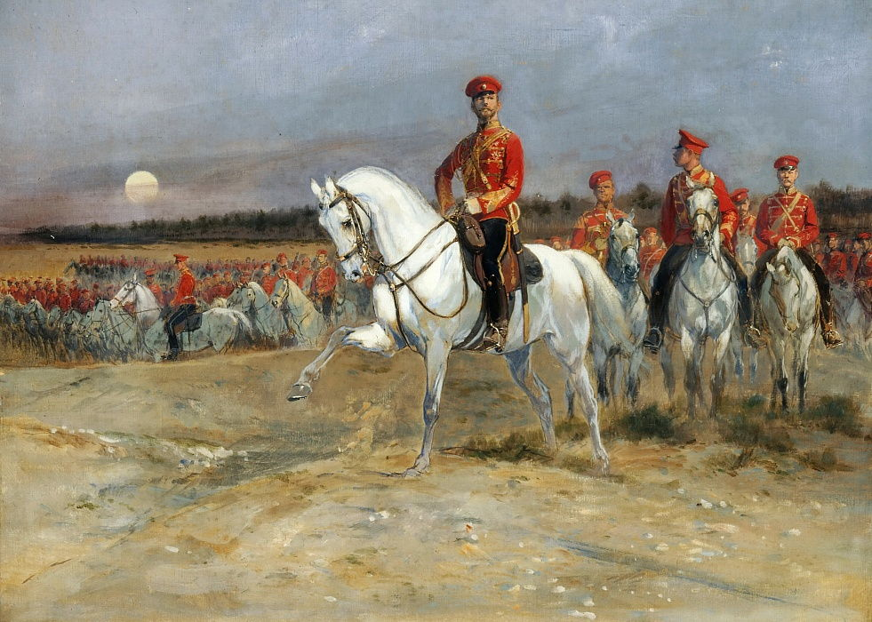 Tsarevich Nicholas Reviewing the Troops by Edouard Detaille