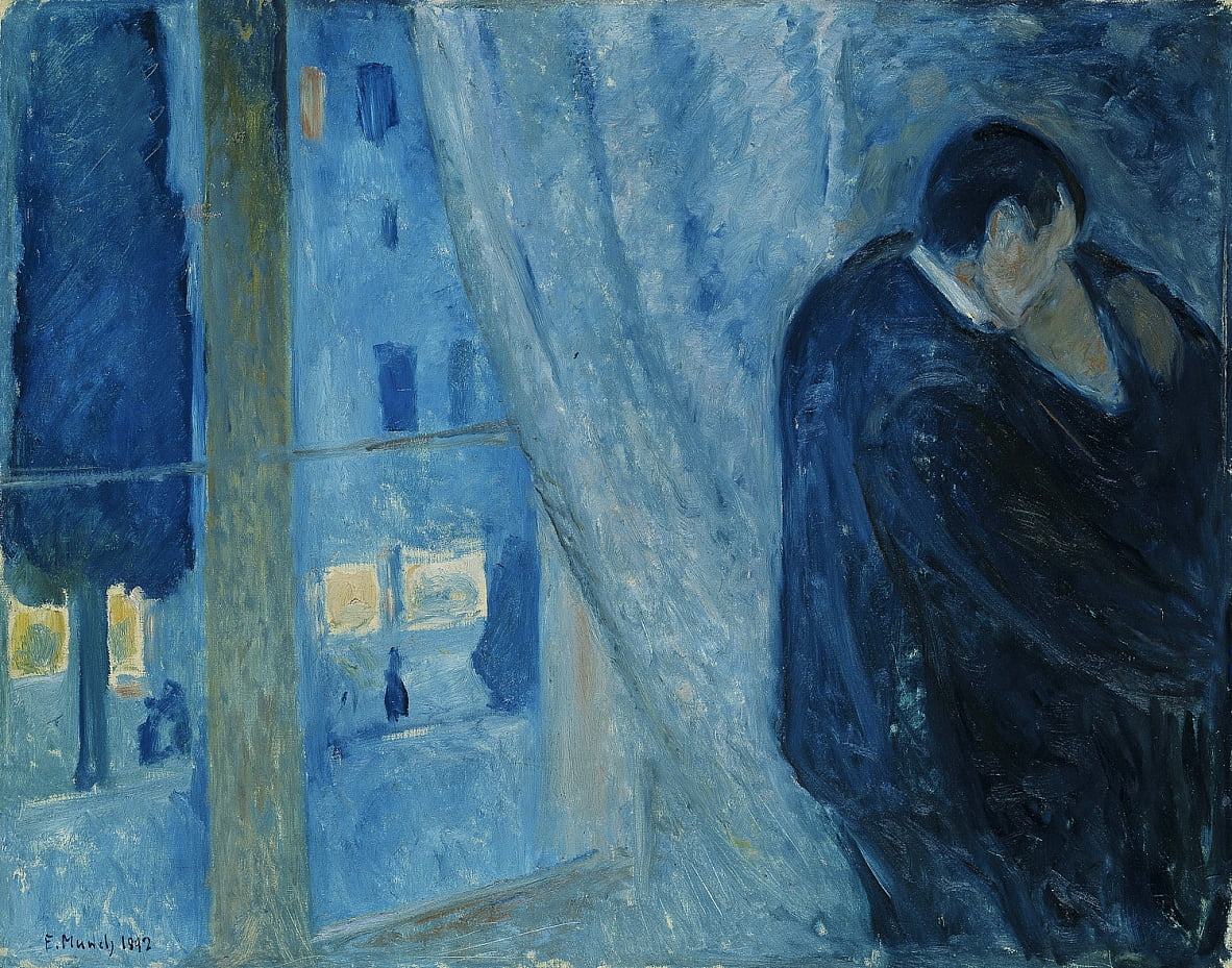 Kiss by the window  by Edvard Munch