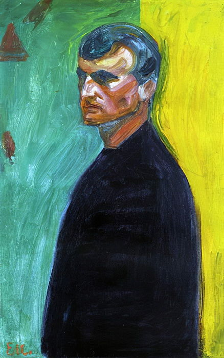 Self portrait, c.1904  by Edvard Munch