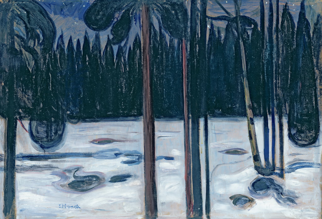 Winter Landscape  by Edvard Munch