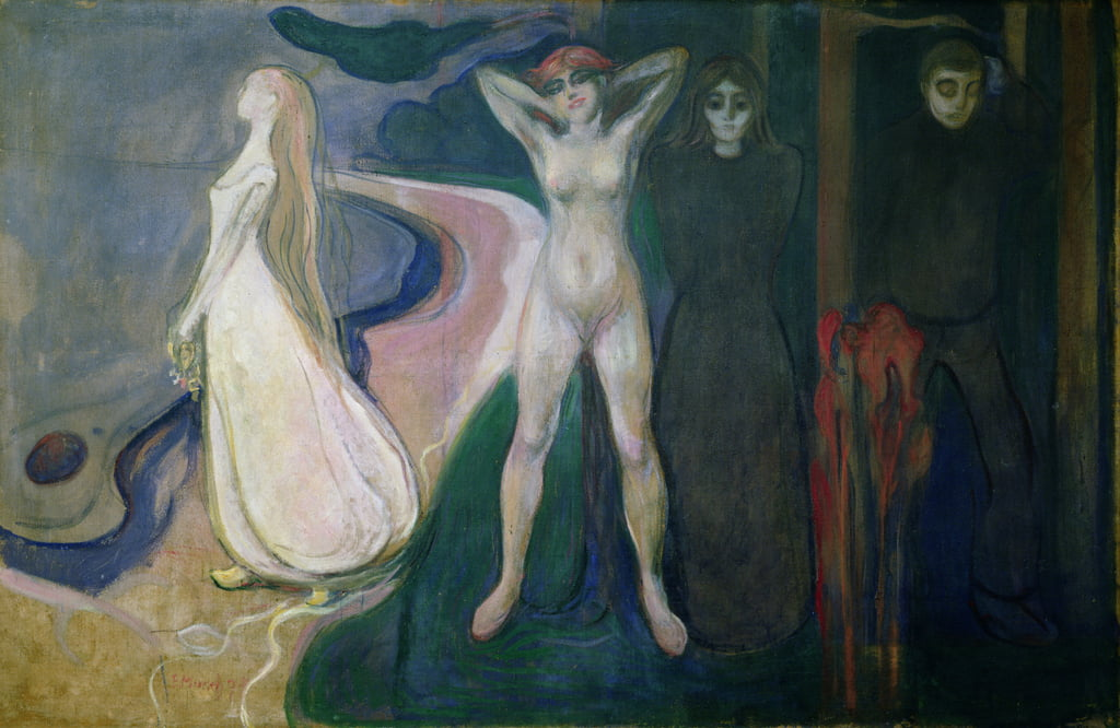 Woman in three stages (Sphinx), 1893-5 by Edvard Munch