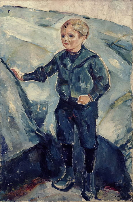 Boy in Blue, c.1900  by Edvard Munch
