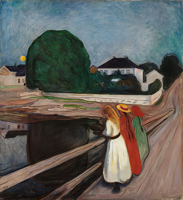 Girls on the Pier, c.1901 by Edvard Munch