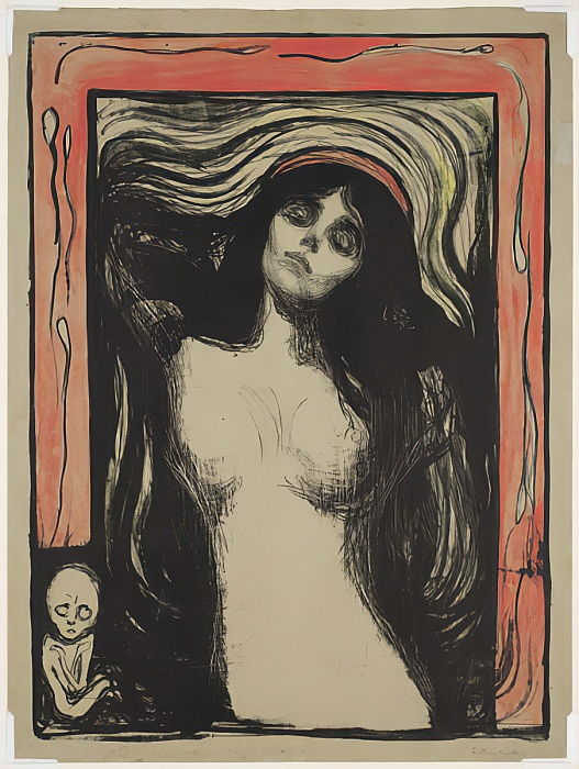 Madonna, 1895 by Edvard Munch