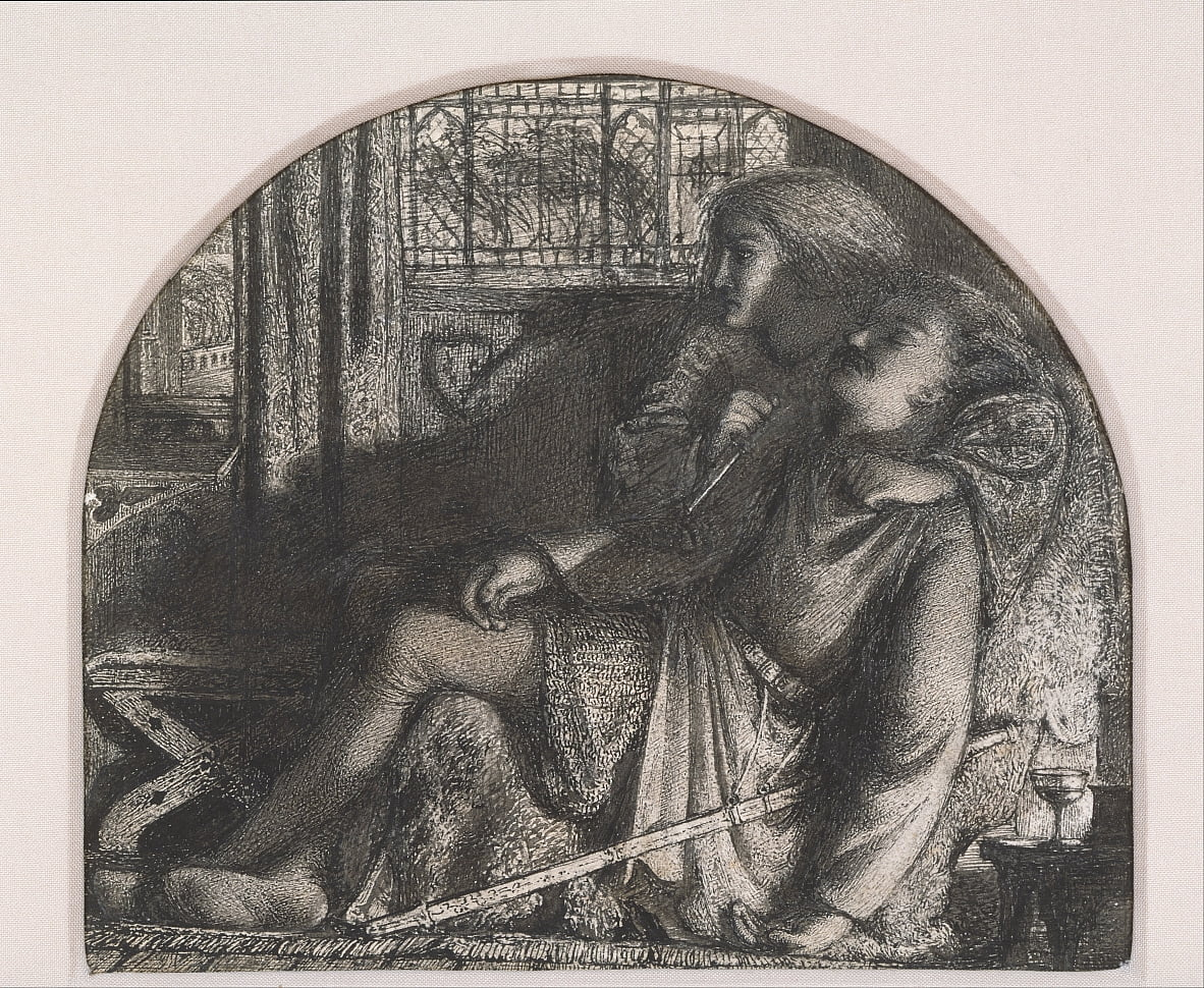 I rose up in the silent night; I made my dagger sharp and bright by Edward Burne Jones