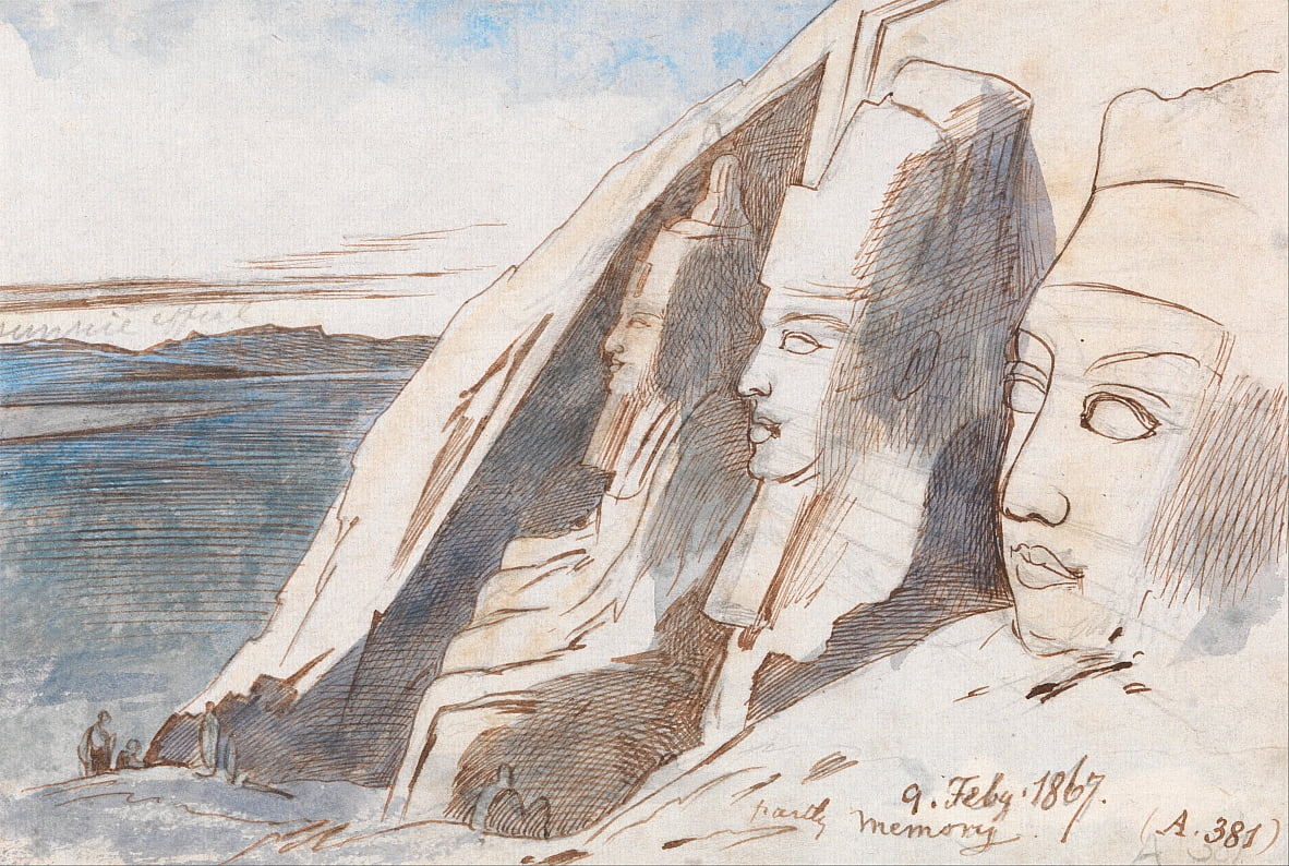 Abu Simbel by Edward Lear