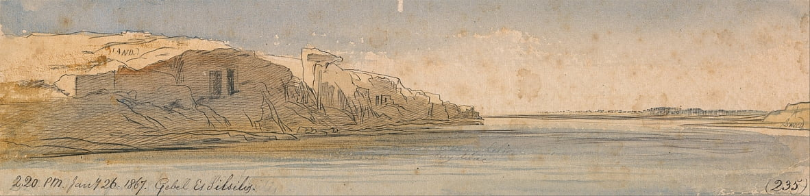 Gebel Es Silsilis by Edward Lear