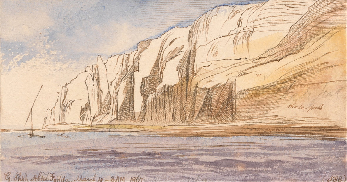 Gebel Sheikh Abu Fodde, 8-00 am, 4 March 1867 (588) by Edward Lear