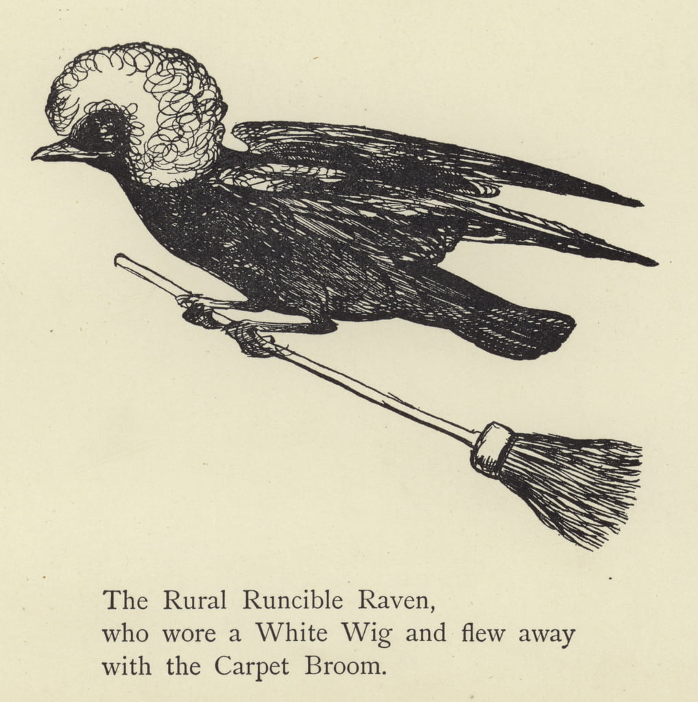 The Rural Runcible Raven  by Edward Lear