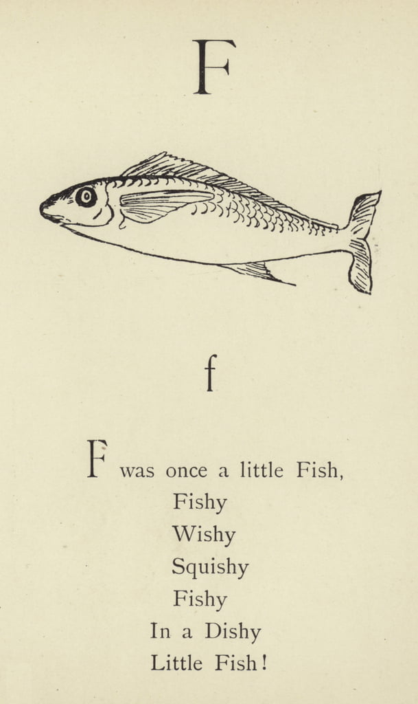 The letter F  by Edward Lear