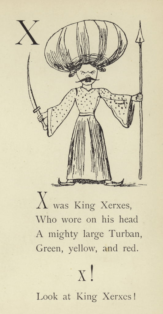 The letter X  by Edward Lear