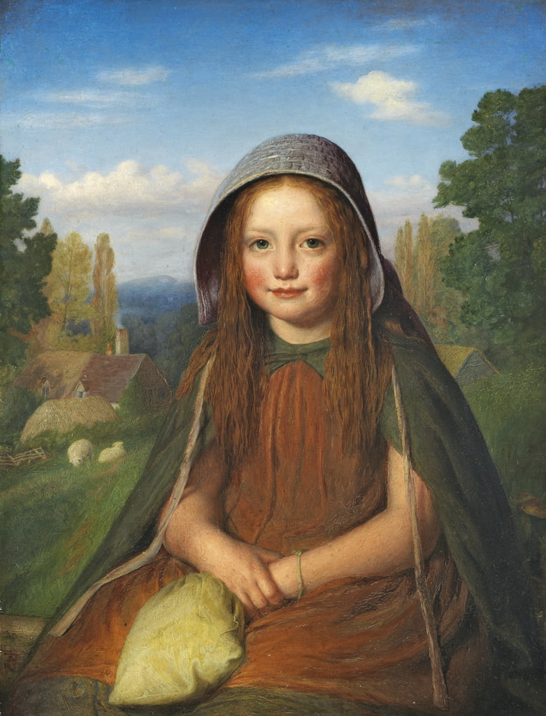 A Girl, 1861  by Edward Thompson Davis