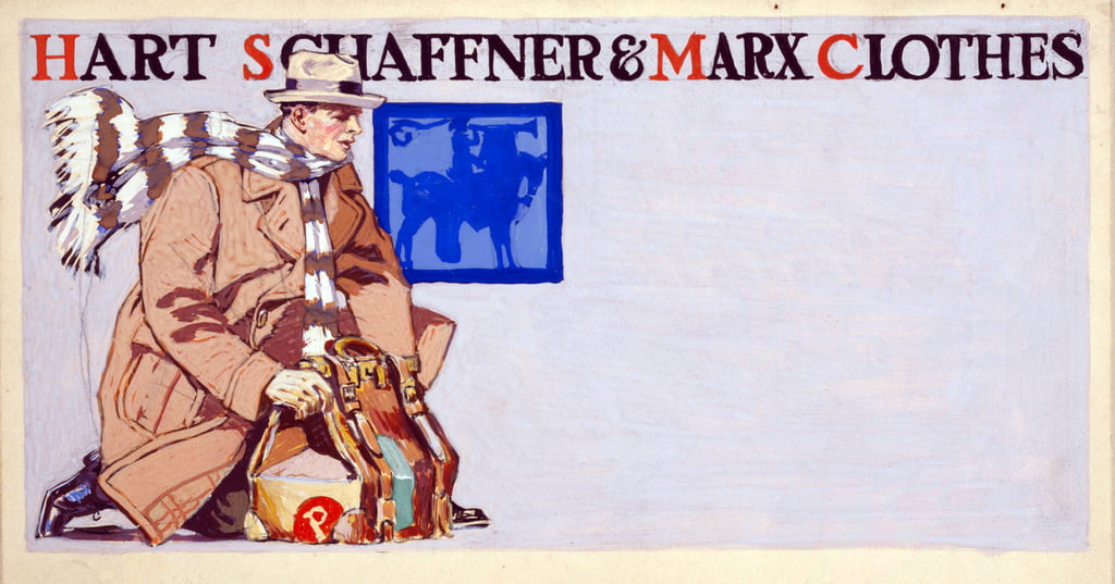 Advertisement for Hart, Schaffner & Marx Clothes, pub. 1900  by Edward Penfield