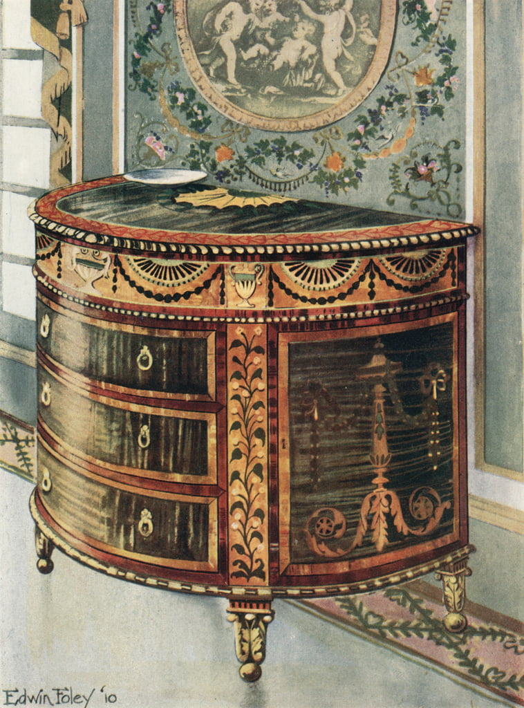 Inlaid Satinwood Commode--Ormolu Mounts by Edwin John Foley