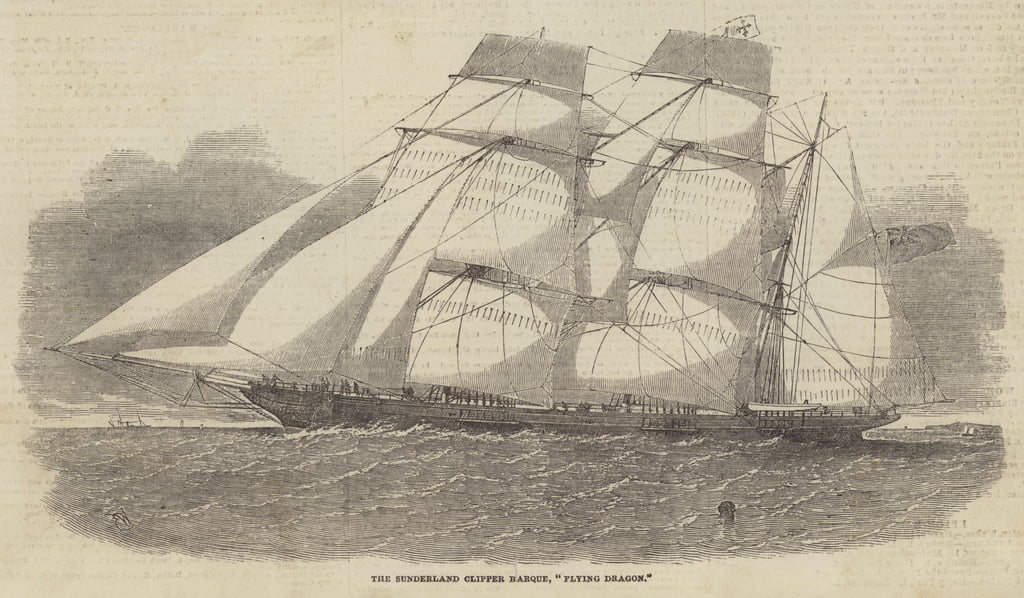 The Sunderland Clipper Barque, Flying Dragon  by Edwin Weedon