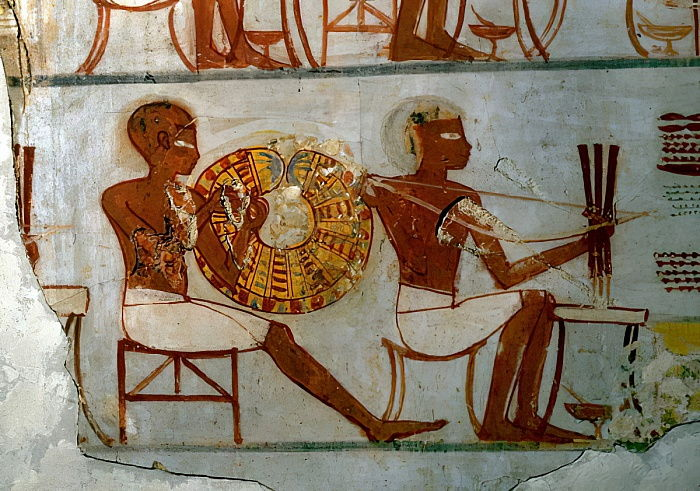 Scene from the life of Nebamun, Tomb of Nebamun, c.1350 BC  by Egyptian 18th Dynasty
