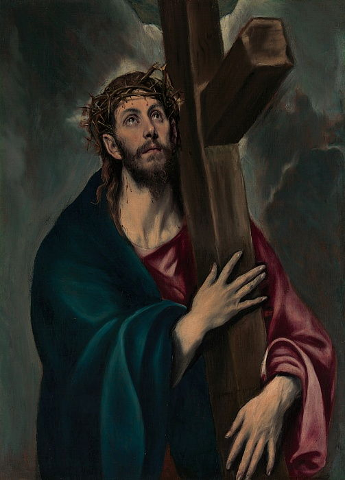 Christ Carrying the Cross, ca. 1577-87.  by El Greco