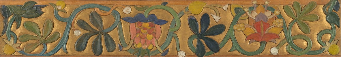 Board decorated with tendrils and flowers by Emile Bernard