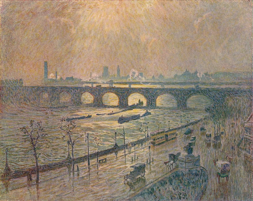 Waterloo Bridge - A Rainy Day, c1917 by Emile Claus