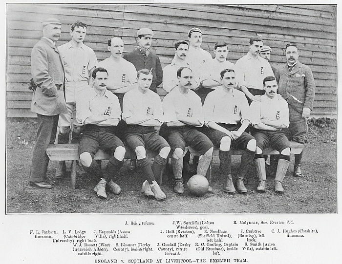 England vs Scotland at Liverpool: The English Team, 1895  by English Photographer