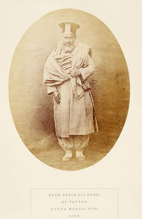 Syud Sabir Ali Shah, of Tattah, Sheea Mussulman, Sind, from The People of India, by J. Forbes Watson, published 1868 (albumen print) by English Photographer