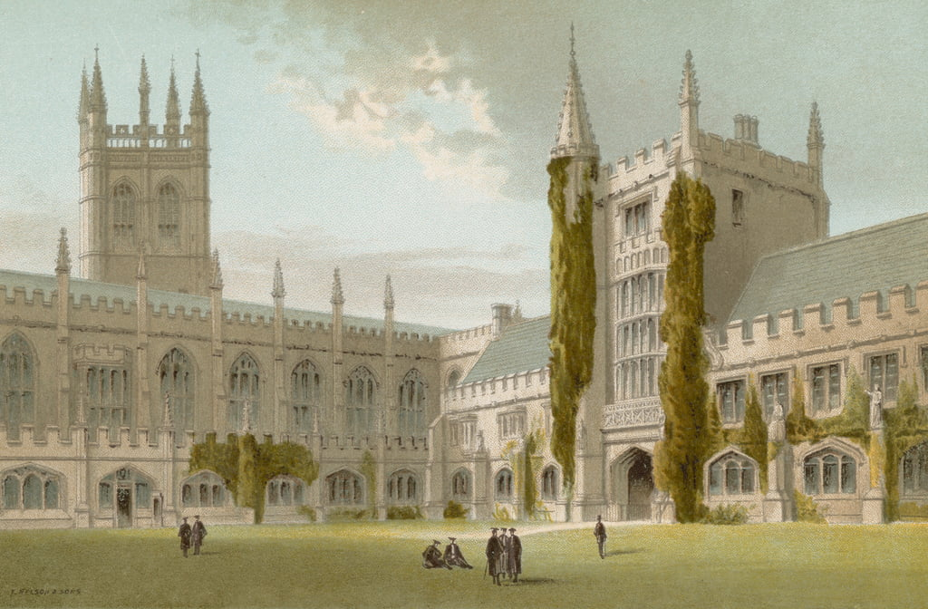 Chapel and Library, Magdalen College--Oxford by English School