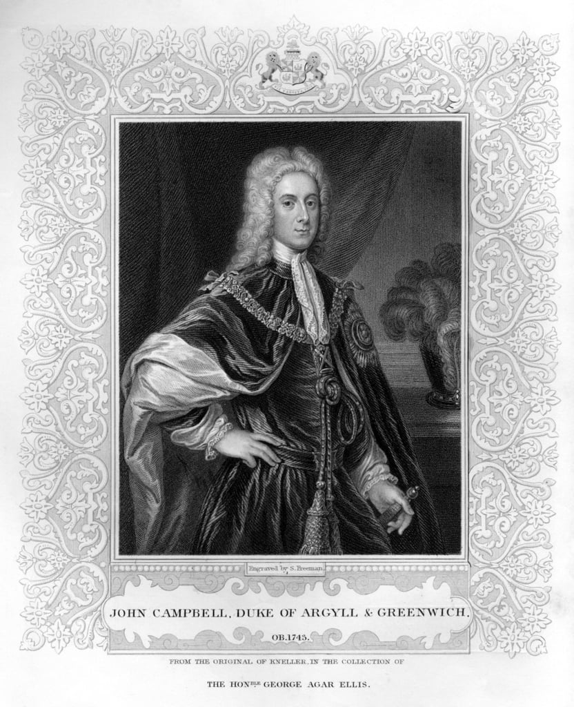 Portrait of John Campbell, Duke of Argyll and Greenwich  (be photo) by English School