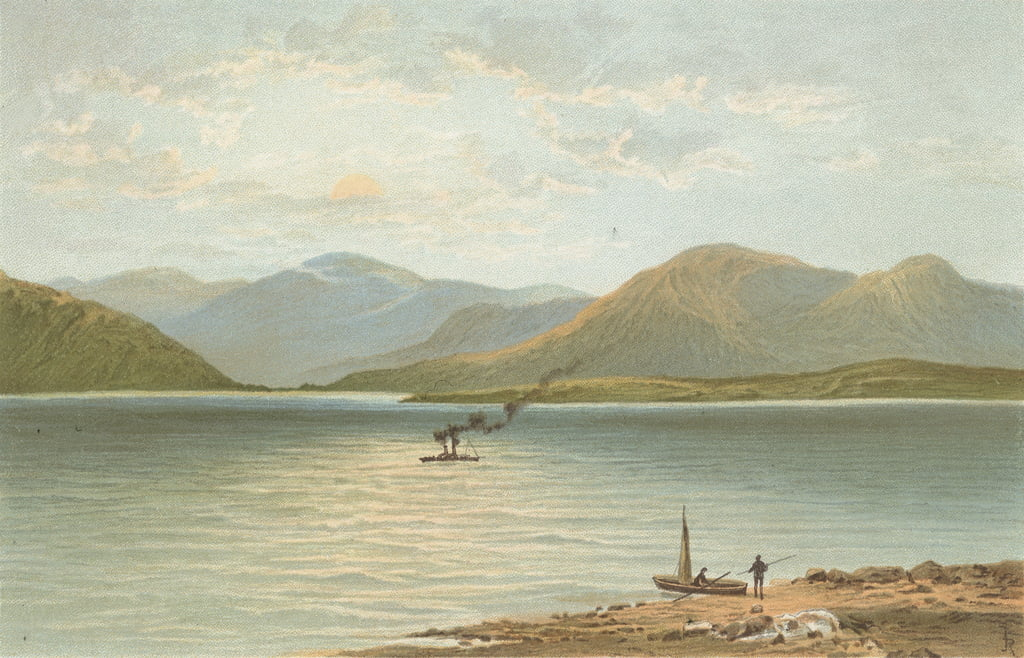 The Ardgower Mountains from Ballachulish by English School