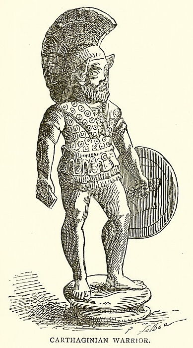 Carthaginian Warrior  by English School