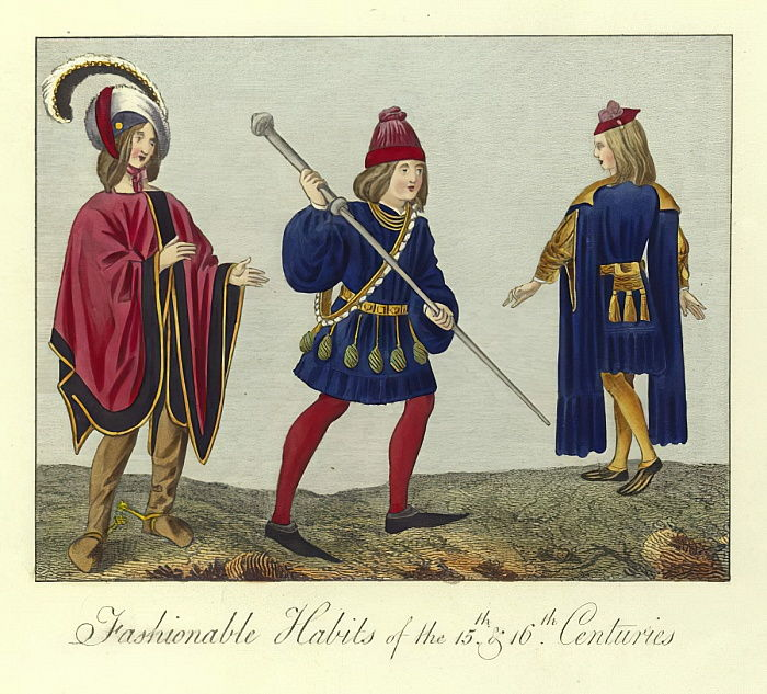 Fashionable habits of the 15th and 16th Centuries  by English School