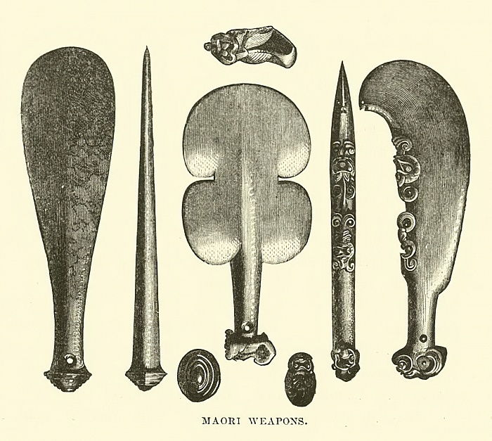 Maori Weapons  by English School