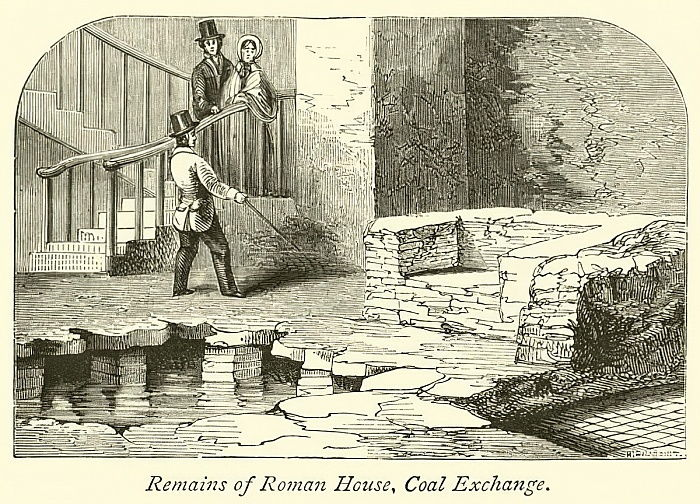 Remains of Roman House, Coal Exchange  by English School