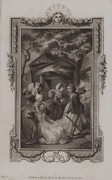 Scene from Clarissa, by Samuel Richardson  by English School