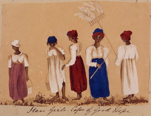 Slave Girls from the Cape of Good Hope, c.1830 by English School