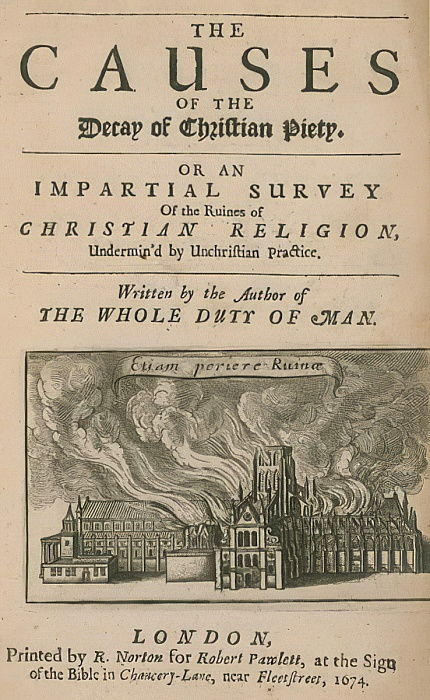 The Causes of the Decay of Christian Piety  by English School