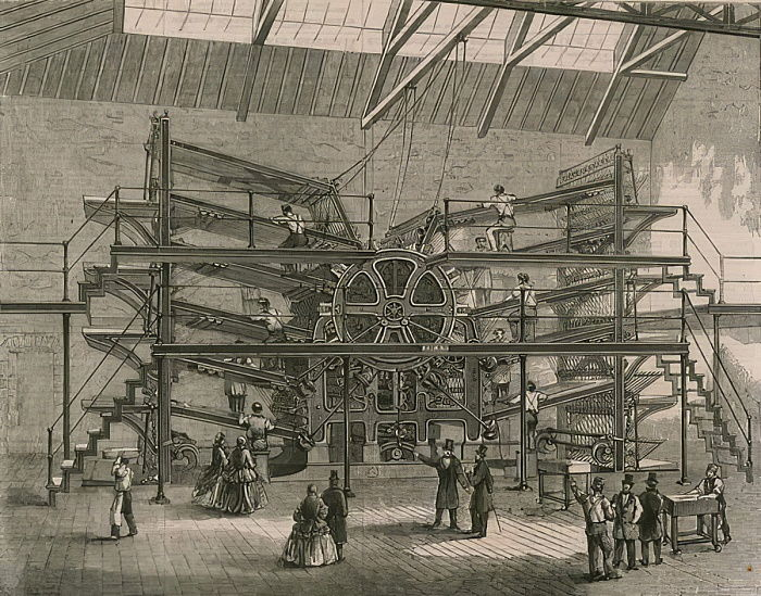 The Daily Telegraph Ten-Feeder Printing Machine  by English School