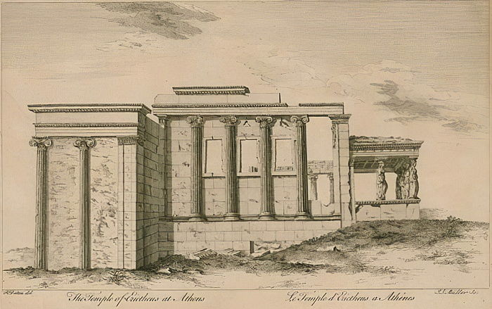 The Temple of Erictheus at Athens  by English School
