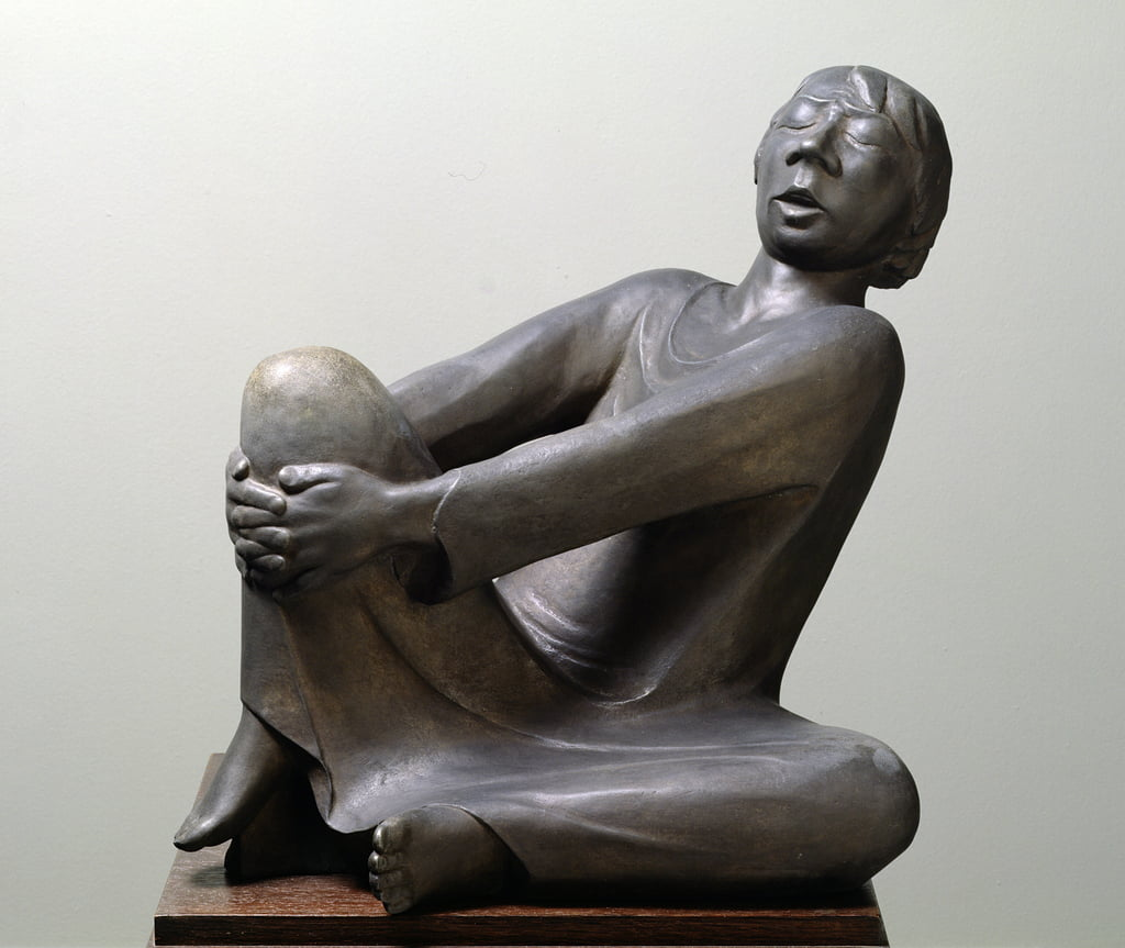 The Singing Man, 1928 (zinc) by Ernst Barlach