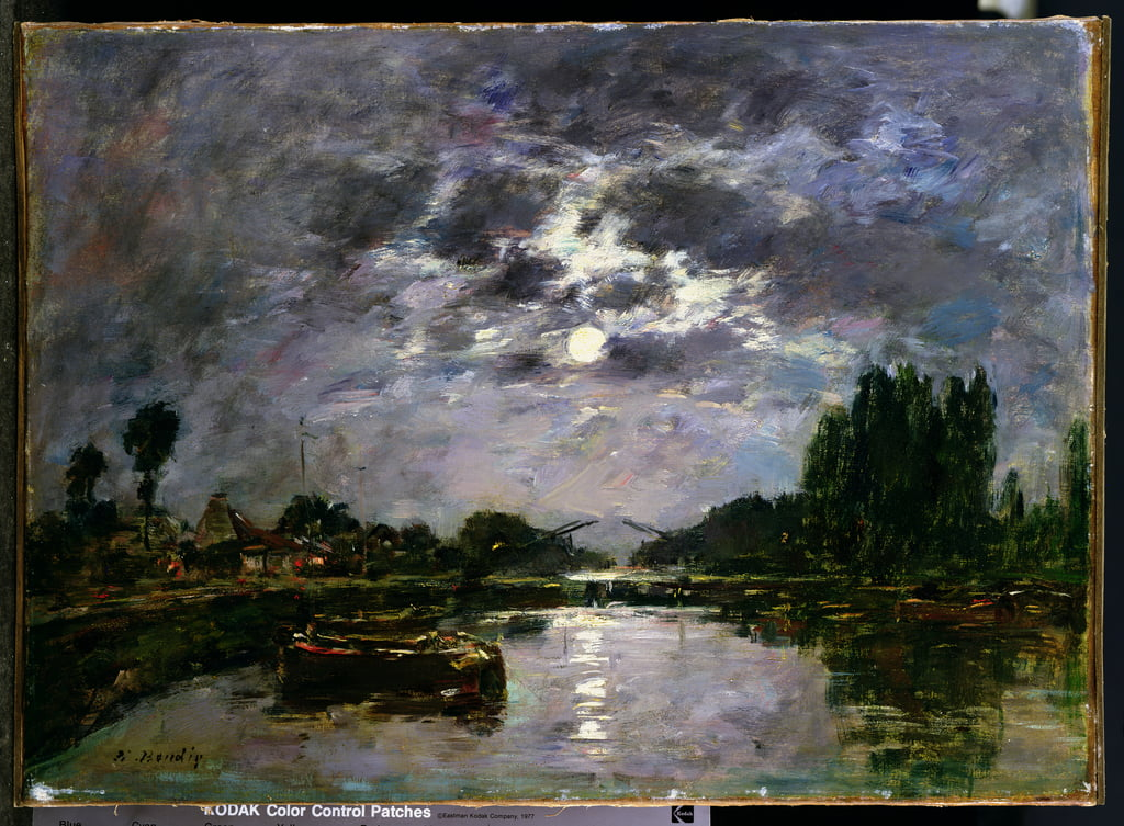 The Effect of the Moon, 1891  by Eugene Louis Boudin