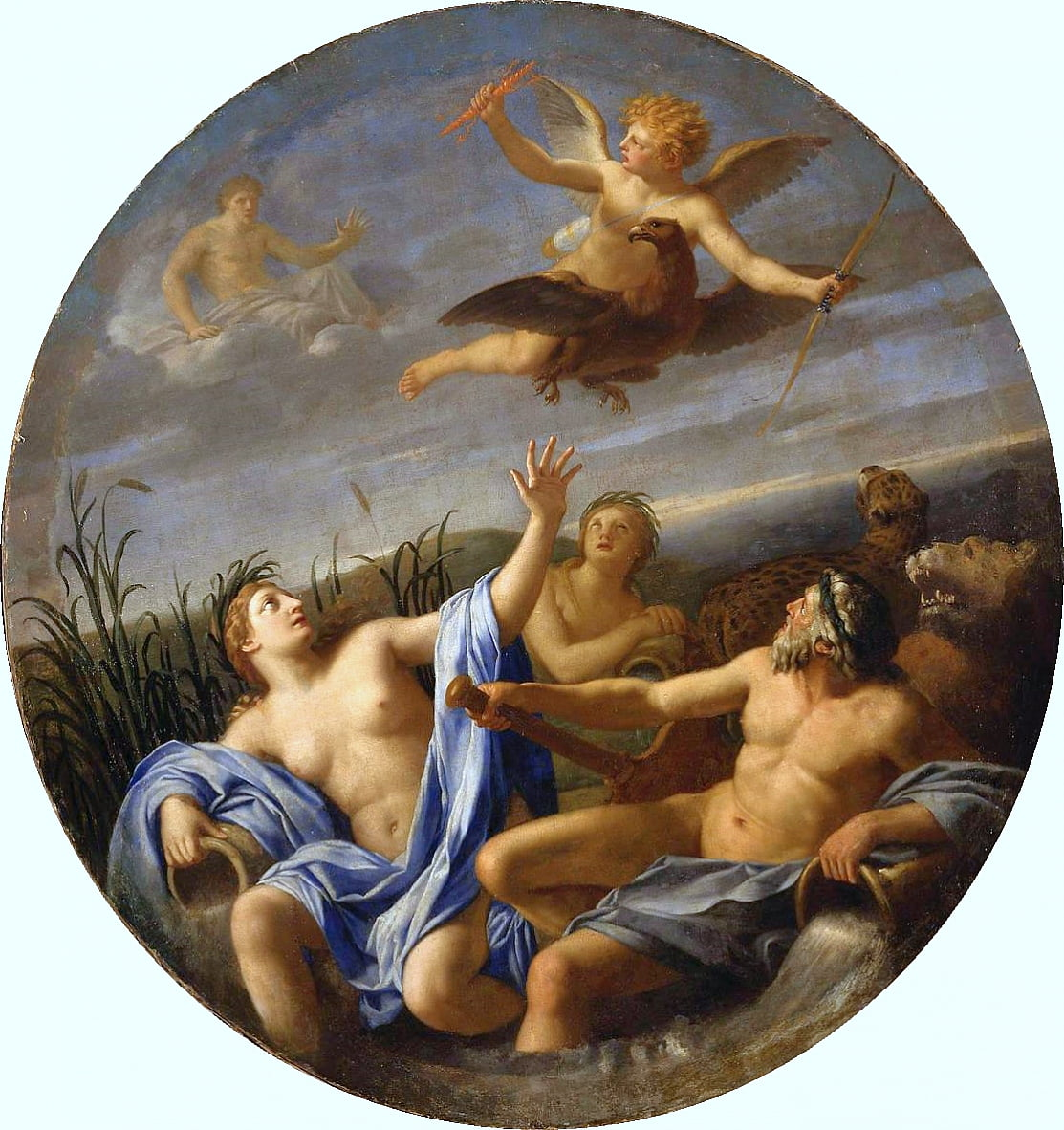 Life of Cupid - Cupid Stealing the Thunder of Jupitern by Eustache Le Sueur