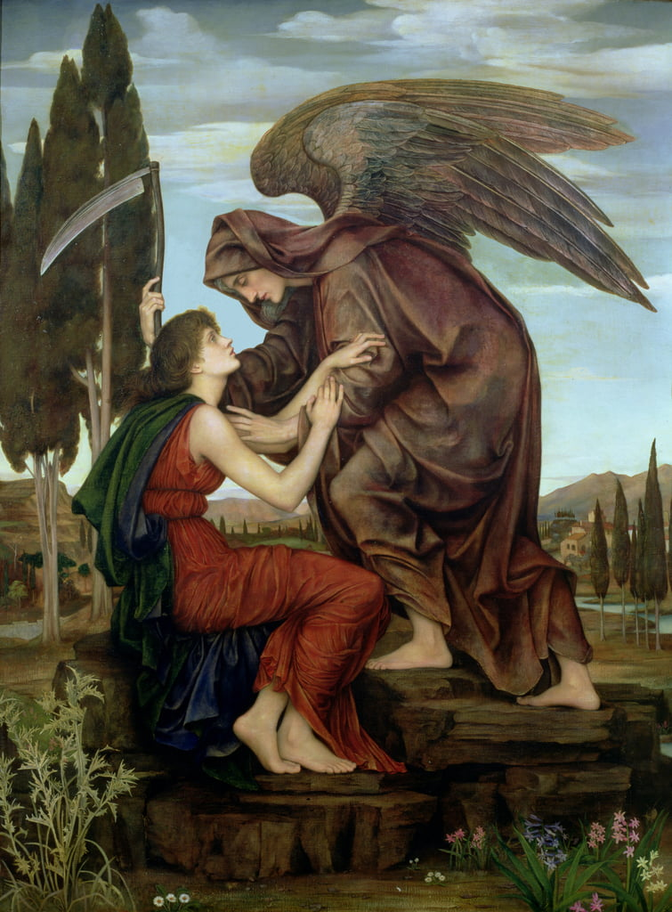 The Angel of Death, 1890  by Evelyn De Morgan