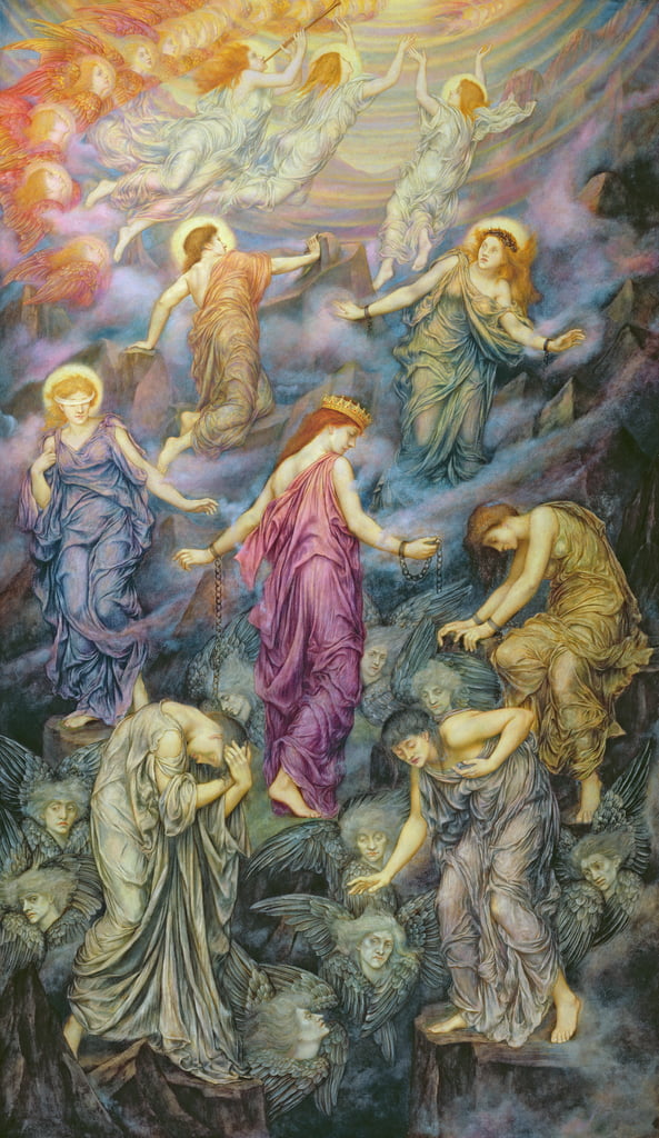 The Kingdom of Heaven Suffereth Violence  by Evelyn De Morgan